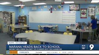 Marana students return to the classroom