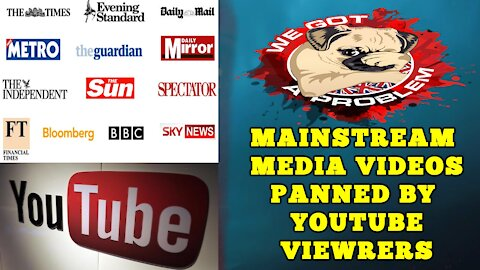 Youtube Viewers Demolish Almost Every Mainstream Media Video Promoted By Youtube 🤣🤣