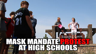 Mask Mandate Protest at High Schools