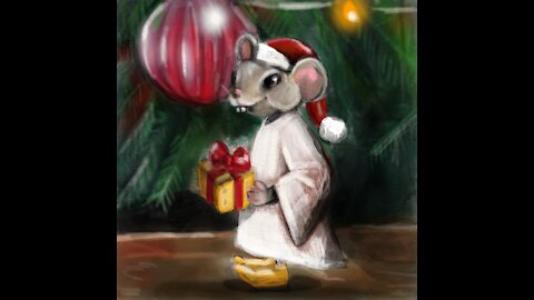 Quick Sketch • Digital Illustration• Christmas Mouse