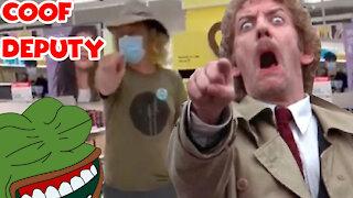 Mask Cuck Karen Stalks Woman In Target Like a Body Snatcher