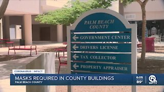 Mask mandate to be reinstated inside Palm Beach County government buildings