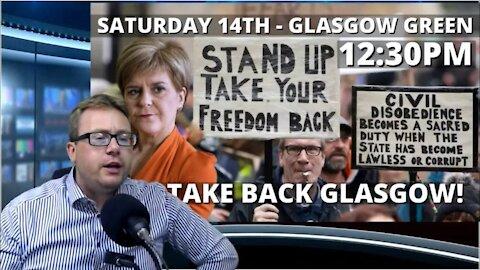 David Clews speaks in Glasgow