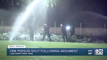 Tempe PD investigating shooting after two men got into argument