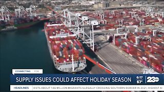 Supply issues could affect holiday season