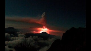 La Palma Volcano Eruption Time-Lapse from Observatory