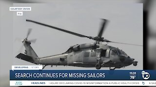 Search continues after Navy helicopter crash