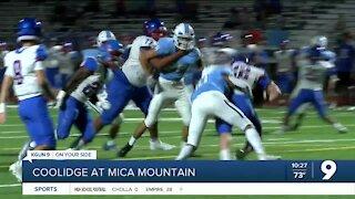 Mica Mountain defeats Coolidge, 13-7