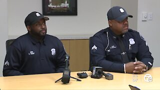 Officers help save runner's life after he collapsed during the Detroit Free Press Marathon