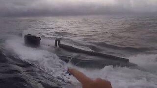 U.S. Coast Guard amazingly intercepts drug-smuggling submarine