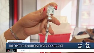 FDA expected to authorize Pfizer COVID-19 booster shot