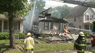 Cleveland firefighters respond to house explosion