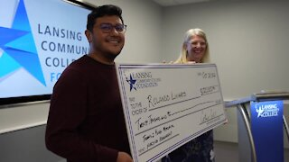 He took a break from school for 15 years, now he's headed back to class with a big scholarship