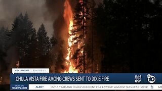 Chula Vista firefighters among crews sent to Dixie Fire