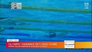 Olympic Swimmer Returns Home