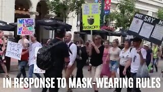 Cities All Over Canada Had Anti-Mask Protests This Weekend