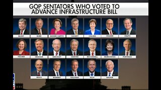 Mark Levin slams the Senate GOP who joined democrats in passing infrastructure bill.