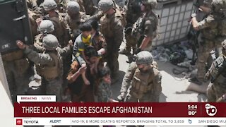 Three local families escape Afghanistan