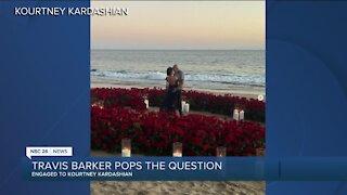 Kourtney Kardashian and Travis Barker engaged