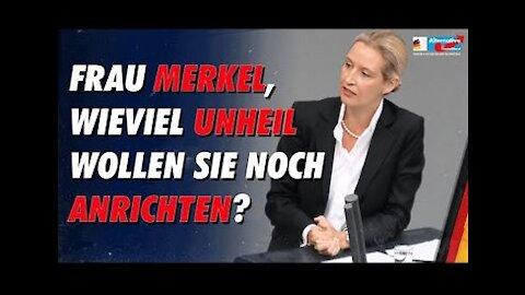 Aufruhr im Bundestag, als Alice Weidel mit Merkels Politik abrechnet! - AfD-Fraktion im Bundestag