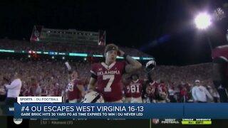 OU escapes West Virginia 16-13