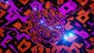 FREE background video vj loop | cool glowing abstract neon hole