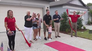 Veteran, family receive heartwarming welcoming to new home in Pasco County