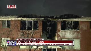 Families displaced after apartment fire on Detroit's east side
