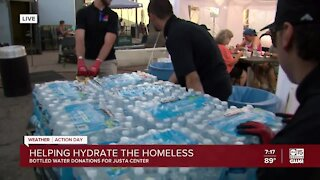 Valley company collecting water bottles for homeless community