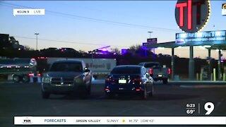 I-10 closed near Craycroft after crash, violence