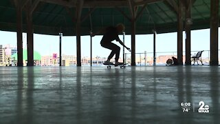 Baltimore skateboarder goes viral for heartwarming interaction with stranger