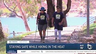 Hiker safety concerns during heatwave