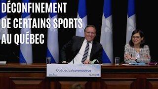 François Legault annonce le déconfinement de certains sports au Québec