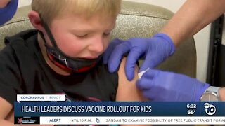 Health leaders discuss vaccine rollout for kids