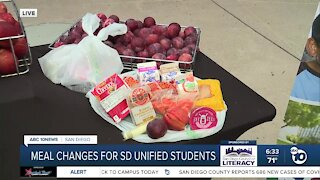 Meal changes for San Diego Unified students
