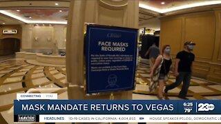 Mask mandate returns to Vegas