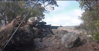 BLT 1/4 Marines fire machine guns during live-fire training at Pohakuloa training area