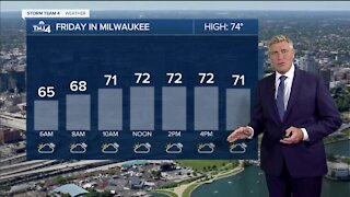 Highs in the mid 70s and low humidity Friday