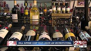 Oklahoma Supreme Court rules liquor law unconstitutional