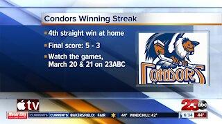Condors winning streak