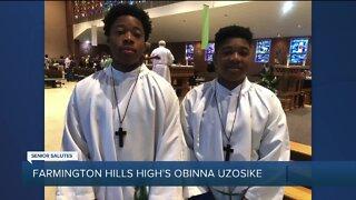 WXYZ Senior Salutes: Farmington High School's Obinna Uzosike
