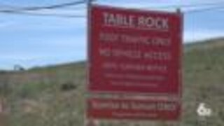 Table Rock mesa parking lot will be closed the rest of the year