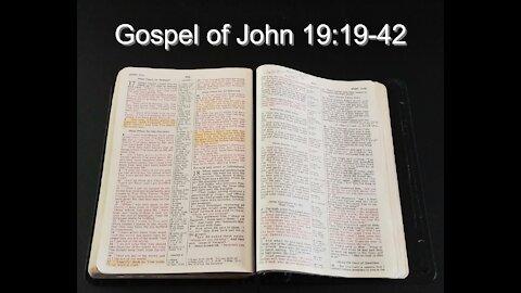 Gospel of John 19:19-42
