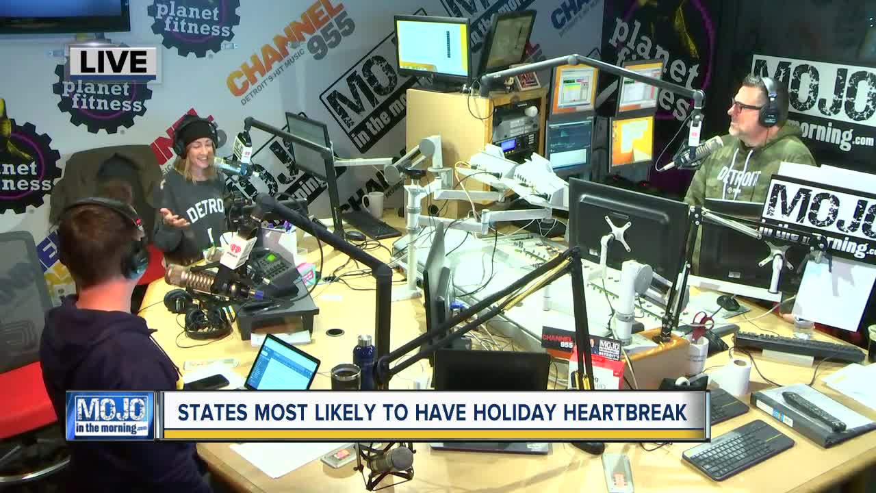 Mojo in the Morning: States most likely to have holiday heartbreak