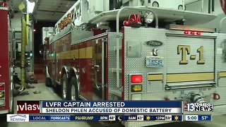 Las Vegas fire captain arrested on domestic battery charge