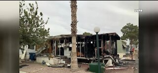1 arrested for arson following Las Vegas mobile home fire