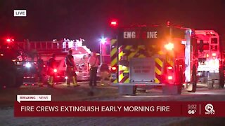 Fire crews investigating early morning brush fire in West Palm Beach