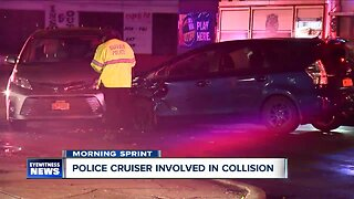 Two officers taken to ECMC after patrol vehicle struck by another vehicle