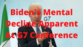 Biden's Shows Mental Decline Wondering into a Cafe Looking Confused