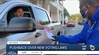 Pushback over new voting laws